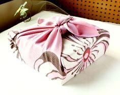 "The pattern mean is ""Good luck"" -Shou Chiku Bai- #Furoshiki #Gift"