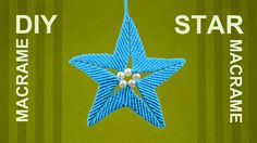 This unique hand made star ornament can be used as a tree ornament. They look lovely hanging in a window, on a door or somewhere else.. #Star #Macrame #unique #Ornament #Decoration #Handmade #ideas by @Macrame School