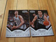 Manu Ginobili Tiago Splitter 2013 14 Panini Prestige San Antonio Spurs Card Lot | eBay