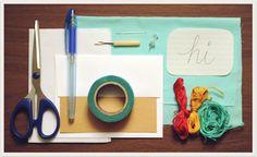 hand-stitched card idea