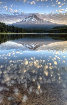 Mt Hood, Oregon. Easy to see why the Japanese consider Mt. Fuji sacred. This is…