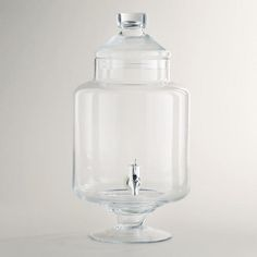 Can I be greedy in my fantasy pinterest wedding for a moment and hope that I get this for a bridal shower, so that I might use it for special cocktails on our weddin day? like a jarred sazerac? omg #thatsalottawhiskey  WorldMarket.com: Round Glass Apothecary Tank