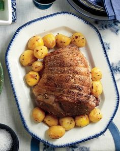 Roasted Marinated Lamb with Lemon and Rosemary Potatoes Recipe