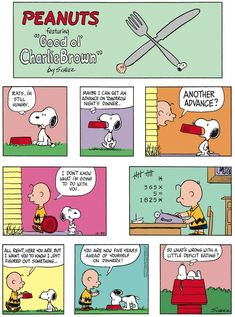 Snoopy is hangry and demands Charlie Brown feed him. | Read more Peanuts comics on GoComics.com | #hungry