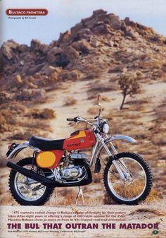 1975 Bultaco Frontera Enduro Motocross, Enduro Motorcycle, Motorcycle Posters, Motorcycle Types, Motorcycle Art, Bultaco Motorcycles, Cool Motorcycles, Vintage Motorcycles, Motorbikes
