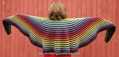 ABC Knitting Patterns - Rainbow Striped Shawl  something else to put in the que