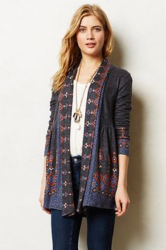 Laurette Cardigan #anthropologie {anthropologie} one.september. Love this!