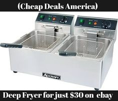 do you need a deep fryer ?  why buy at an expensive amount when you can have it with less than $30 on ebay  follow the link on our bio to buy directly on ebay  #giveaway #promotion #contest #contests #giveaways  #win  #food #shoppingaddict #shopaholics #gooddeal #cheapdeals #affordabledeals #kitchentools #kitchenequipments #fit  #work #gym #motivation  #healthy #hot  #amazing #art #fashion #happy #buy #buycheap  #cheapstuffs #onlinesales #sales  Yummery - best recipes. Follow Us…