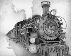 The steam engine was one of the most important inventions of the Industrial… Zug Tattoo, Train Sketch, Train Tattoo, Important Inventions, Train Drawing, Old Steam Train, Train Posters, Train Art, Old Trains