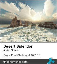 Digital creation of a winter desert scene.
