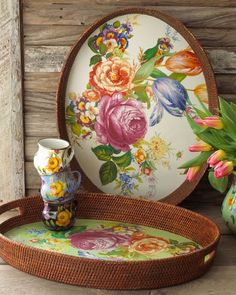 "khimara:    MacKenzie-Childs ""Flower Market"" Tray"