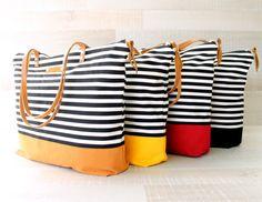 Stripe Tote Bag EXPRESS SHIPPING Laptop Bag Diaper Bag