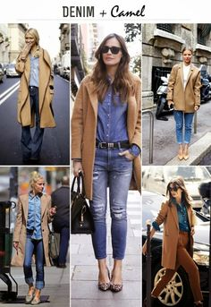 Denim + Camel