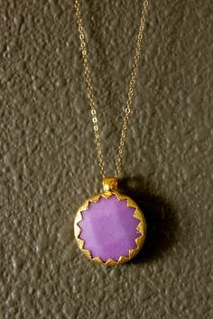 Lilac Moroccan Jade Pendant by madge