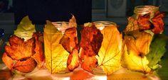 Herfst - knutselen met bladeren