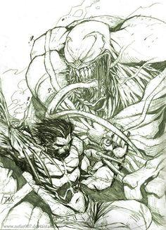 Wolverine vs venom by Dexter soy