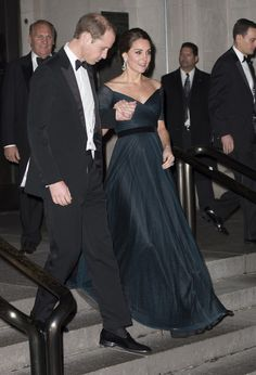 Prince William, Duke of Cambridge and Catherine, Duchess of Cambridge leave the St. Andrews 600th Anniversary Dinner at the Metropolitan Museum of Art on December 9, 2014 in New York City. The event is created to support scholarships and bursaries for students from under-privileged communities and investment in the university's media and science faculties, sports centers and lectureship in American literature.