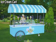 ice cream cart, sell ice cream!on around the sims 4