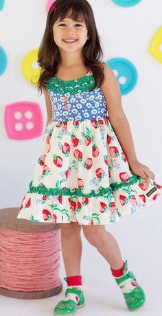Matilda Jane - Happy and Free - Spring 2016 - Strawberry Crumble dress Jessica Van Roy Independent Matilda Jane Trunk Keeper #1590