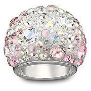 Chic Multi Pink Swarovski Ring