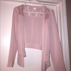 Lace blush blazer jacket NWOT beautiful blush/lace thin blazer Jackets & Coats Blazers