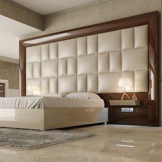 idée-originale-tête-de-lit-luxe-cuir-blanc