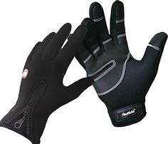 Andyshi Men's Winter Outdoor Cycling Glove Touchscreen Gloves for Smart Phone L Black  #Andyshi #Black #Cycling #Glove #Gloves #Men's #Outdoor #Phone #Smart #Touchscreen #Winter CyclingDuds.com