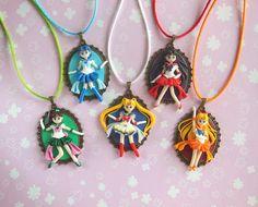 Sailor Moon Inner Senshi Cameos by LittleBreezesCrafts on Etsy