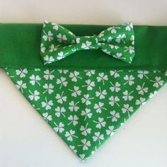 Dog Bandana  St. Patrick's Day Clover Print with by SpottedDogShop, $9.95