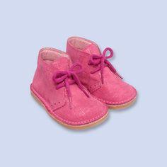 Laminated suede chukka boots - Girl - FUSHIA - Jacadi Paris