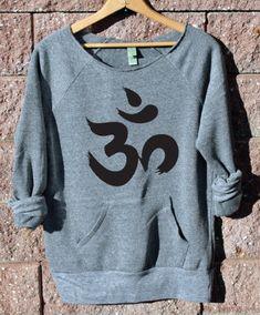 Yoga Aum Symbol Wideneck Off the Shoulder Girly by WearMeGear, $38.00