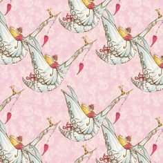 Sing Me a Song in Peony Pink - RIDDLES & RHYMES (pwtg152)  - Tina Givens - Free Spirit Fabric  - 1 Yard by MoonaFabrics on Etsy https://www.etsy.com/listing/175027692/sing-me-a-song-in-peony-pink-riddles