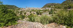 panorama valldemossa hilltop view of village of valldemossa mallorca