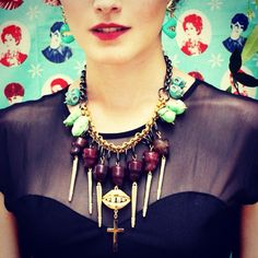 New campaign. Frida is in town. http://www.patricianicolas.com/pilgrim-kiss-necklace-p-478.html