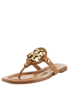 Miller Flat Thong Sandal, Tan/Bronze by Tory Burch at Bergdorf Goodman.
