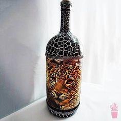 Decor étnica para a garrafa