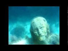 Underwater on the sea bed near the shores of Malta in the Meditteranean stands a three metre tall, 13 ton statue of Jesus. Maltese sculptor Alfred Camilleri Cauchi was commissioned to commemorate the 1990 visit of Pope John Paul II to Malta. After being blessed by His Holiness, the statue was placed on the seabed near St Paul's Islands as an attraction for divers.