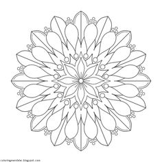 Coloring Mandalas: 12 Lifebloom