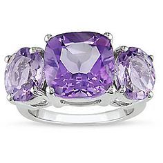 @Overstock - Click here for Ring Sizing ChartSilver amethyst ringRose de France accentshttp://www.overstock.com/Jewelry-Watches/Miadora-Silver-Amethyst-and-Rose-de-France-Quartz-Ring/2969714/product.html?CID=214117 CAD              64.94