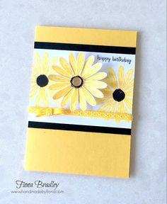 Happy birthday - Daisy Delight - Stampin' Up! Making Greeting Cards, Greeting Cards Handmade, Daisy Delight Stampin' Up, Stamping Up Cards, Scrapbook Cards, Scrapbooking, Card Sketches, Flower Cards, Cute Cards