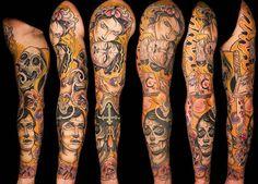 Tattoo Artist - Adriaan Machete - www.worldtattoogallery.com/sleeve_tattoos
