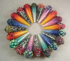 jeweled drops.  Beau Barrett