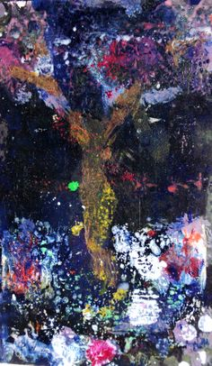 "The Magic Tree. Oli on card. 5 1/2"" x 4 3/4"". ..Philip Weaver"