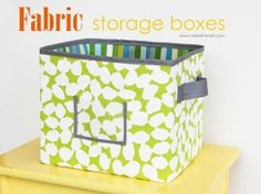 Top 20  DIY Home Organization Projects - Fabric Storage Boxes