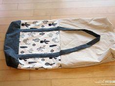 Eco-Friendly Tote Bag - Sewing Machines Tote Women Shopping Bag Shoulder Bag Lady Handbag Pouch DIY Tutorial The Effective - Diy Tote Bag, Diy Bags, Bag Patterns To Sew, Denim Bag, Fabric Bags, Purses And Bags, Shopping Bag, Diy Tutorial, Tutorial Sewing