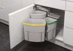 END OF LINE! Vauth Sagel Oko Center Swing Out Waste Bin - 3 Bins - 18, 12 & 9 litre   Access Group NZ
