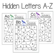 PRE-ORDER Hidden Letters A-Z -- Includes 26 pages, one for each letter of the alphabet -- download and print to use