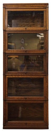 Gorgeous narrow/high stacking barrister bookcase. $1750  I would really love an antique barrister.... Eastlake, or something from the 40's would suffice.  The only modern one I like is the industrial, and I wouldn' t use that for books.