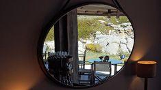 ArcDog Film: Casa de Chá da Boa Nova   Álvaro Siza Vieira. Image ArcDog. @casachaboanova. #CasadeChadaBoaNova #BoaNova #AlvaroSiza #AlvaroSizaVieira #Siza #LecadaPalmeira #Porto #Portugal #TeaHouse #Michelin #Restaurant #RuiPaula #Table #Chair #Interior #ArcDogFilm #Architecture #Architect #Film #ArcDog #Filmmaking Porto Portugal, Windows, Mirror, Table, Furniture, Instagram, Home Decor, Interiors, Houses