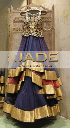 Incredibly Charming, We're Sure our Stunning Multi-Layered Anarkali is going to be your New Favourite! #JADEbyMK #Suits #Anarkali #Wedding #India